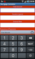 Screenshot of Mortgage and Loan Calculator