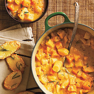 Creamy Root Vegetable Stew with Gruyère Crostini
