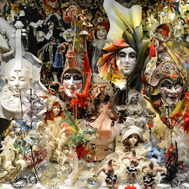 Venetian Carnival Masks by Nick M - Artistic Objects Clothing & Accessories ( venitian, carnival, masks, venice )