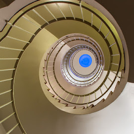Stairwell by Kim Mortensen - Buildings & Architecture Architectural Detail ( looking, iceland, window, stairwell, spiral, up,  )