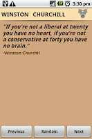 Screenshot of Winston Churchill Quotes