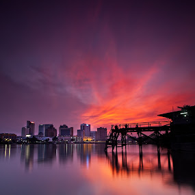 Sunset At Kpg Sourabaya by Stuart Rango - Landscapes Sunsets & Sunrises