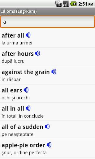 English-Romanian Idioms