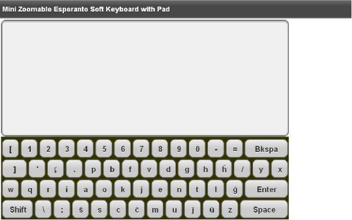 Mini Esperanto Keyboard Pad