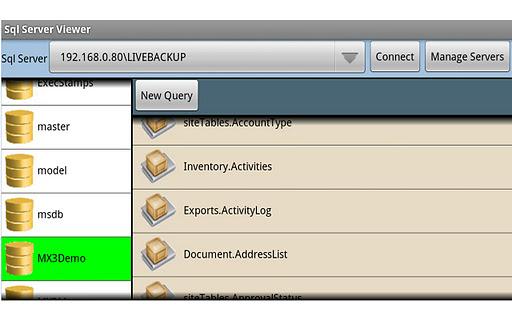 Sql Server Viewer for Tablet