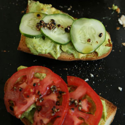 Open-Face Avocado and Goat Cheese Sandwiches