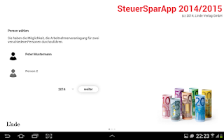 Screenshot of SteuerSparApp