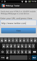 Screenshot of WebApp Tester