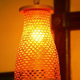 The Orange Glow! by Anoop Namboothiri - Artistic Objects Furniture ( orange, indoor, lamp, anoop namboothiri, travel, restaurant, glow, shade, light,  )