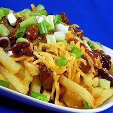 Cheesy Chilli con Carne and Chips