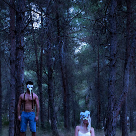Forest Creatures by Michael Hagai - People Couples ( creepy, creatures, forest, couple, people )