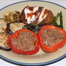 Chicken or Pork Stuffed Capsicums/Bell Peppers
