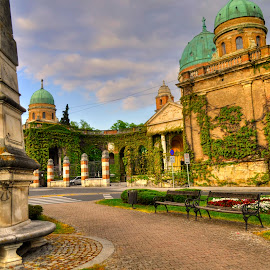 The main entrance to Mirogoj by Gordana Trošić-Kliska - City,  Street & Park  Historic Districts ( hdr, cemetery, travel, zagreb, city,  )