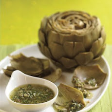 Steamed Artichokes with Lemon Butter Dipping Sauce