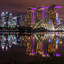 Marina Bay Sands Singapore by Howell Rodriguez - Buildings & Architecture Office Buildings & Hotels ( colorful, beautiful, architecture, city, night )