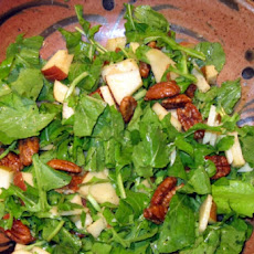 Arugula Salad with Manchego, Apples, and Caramelized Walnuts