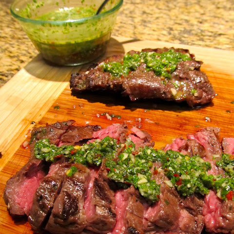 skirt steak with chimichurri recipes yummly