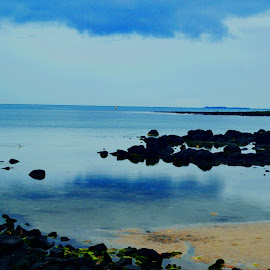 Jawbone Beach by Keir Bonello - Novices Only Landscapes ( water, photoshop art, amateur, beach, rocks )