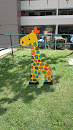 The Colourful Giraffe Artwork