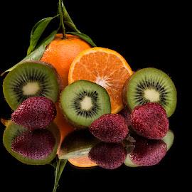 Three Kiwis by Rakesh Syal - Food & Drink Fruits & Vegetables (  )
