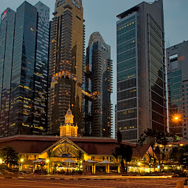 The Lau Pa Sat - Singapore by John Chung - City,  Street & Park  Skylines
