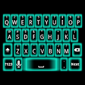 Cyan Glow Keyboard Skin icon