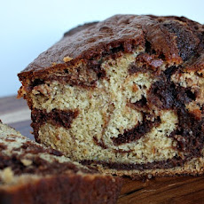 Nutella- Swirled Banana Bread