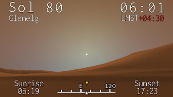 Screenshot of Curiosity Clock