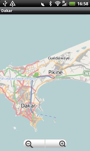 Dakar Street Map