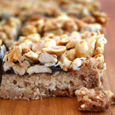 Sticky Peanut Cookie Bars Recipe