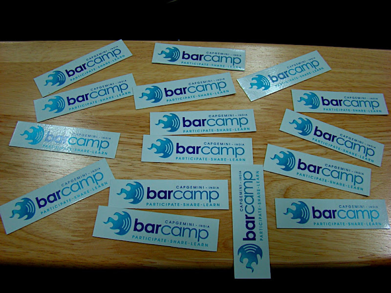 Barcamp Capgemini Stickers Tarun Chandel Photoblog