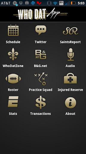 WhoDatApp - New Orleans Saints