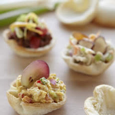 Wonder Bread Curried Chicken Salad Appetizer Croustades