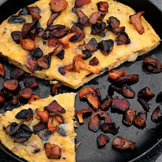 Melted Cheese Frittata with Four Kinds of Mushroom