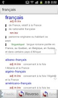 Screenshot of Dictionnaires Français