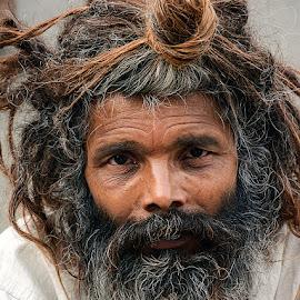 Jatadhari Baba by Rakesh Syal - People Portraits of Men
