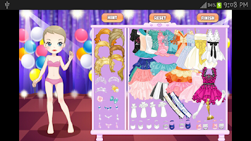 Screenshot of Dress up Makeup Cooking Games