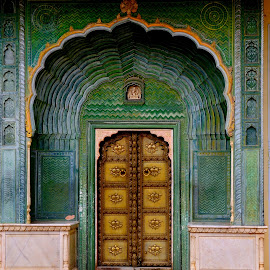 Colourful Door by Sankar Sivagnanam - City,  Street & Park  Historic Districts ( colourful, jaipur, door, india, palace,  )