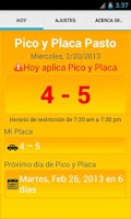 Screenshot of Pico y Placa Pasto