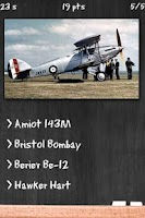 Screenshot of Military Bombers Quiz
