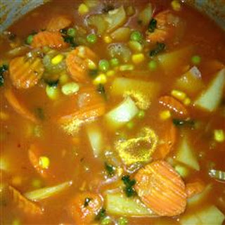 Chunky Vegetarian Vegetable Soup (Fast and Easy)