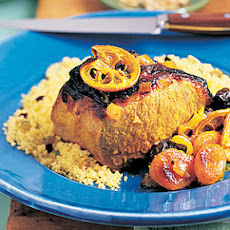 Moroccan Pork Loin with Dried Fruit and Lemons