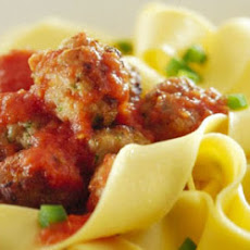 Pappardelle With Meatballs