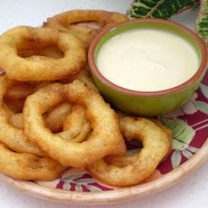 Caribbean Lime Onion Rings With Spicy Dipping Sauce