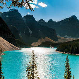 Glacial Lake by Sheldon Anderson - Landscapes Mountains & Hills ( water, canada,  )