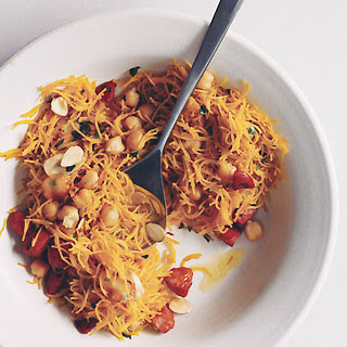 Spaghetti with Chorizo and Almonds