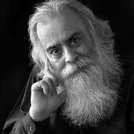 Gurudev # 2 by Rakesh Syal - People Portraits of Men ( Emotion, portrait, human, people,  )