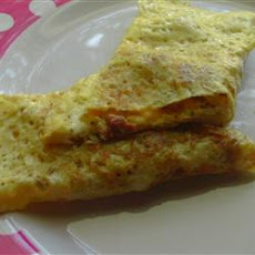 Cream Cheese Ham Omelet