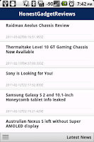 Screenshot of Honest Gadget Reviews *phone*