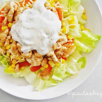 Etna Salad (chicken, Bacon, Cheese, Corn) + Clean Yogurt Sauce